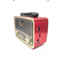 radyo Everton Vt-3101 Nostalji Şarjlı 3 Band Radyo Usb Sd Aux Mp3 Player