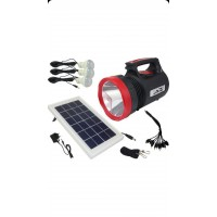 güneş enerjili Radyolu 3 Ampullü Çok Amaçlı Solar Fener